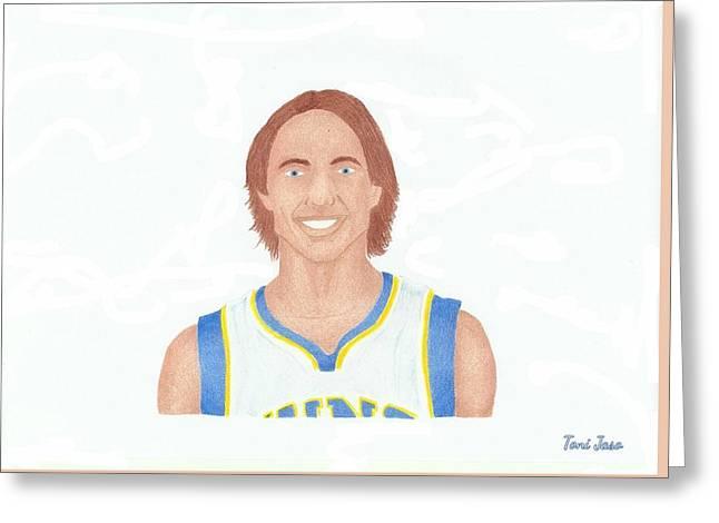 Steve Nash Greeting Card by Toni Jaso