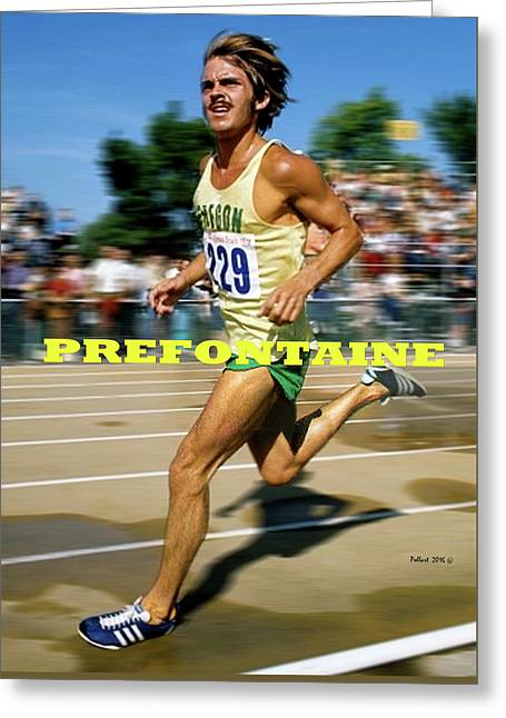 Steve Prefontaine, The Legend Greeting Card