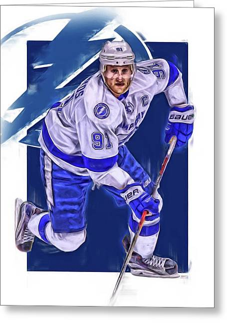 Steven Stamkos Tampa Bay Lightning Oil Art Series 1 Greeting Card