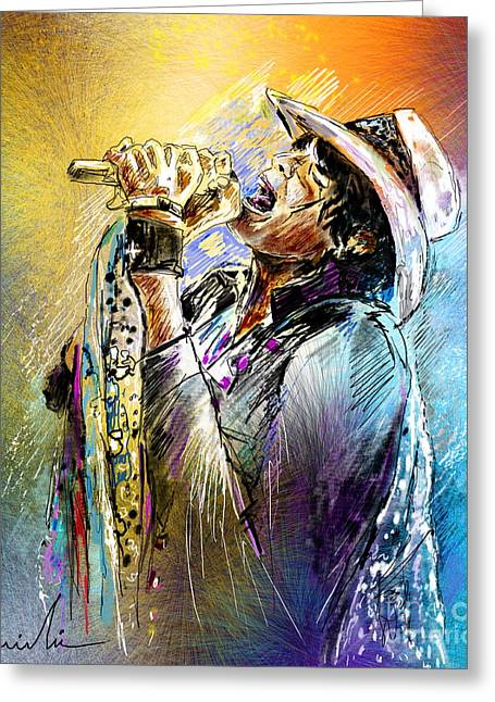 Steven Tyler 01  Aerosmith Greeting Card