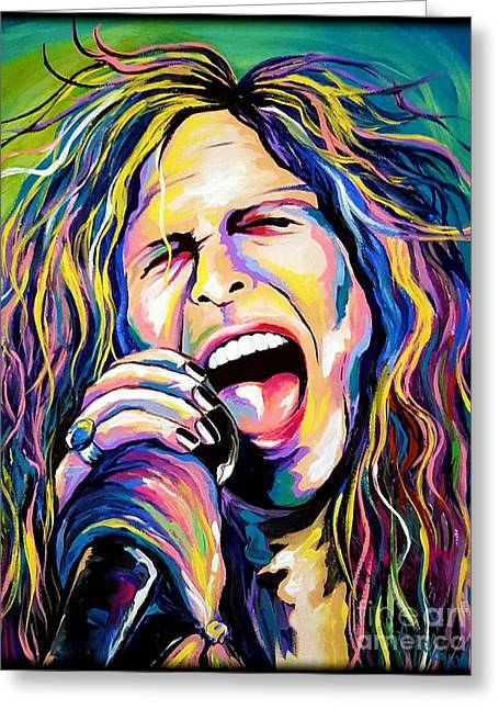 Steven Tyler Greeting Card by Amy Belonio