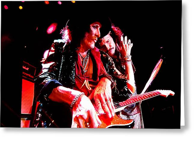 Steven Tyler And Joe Perry Greeting Card