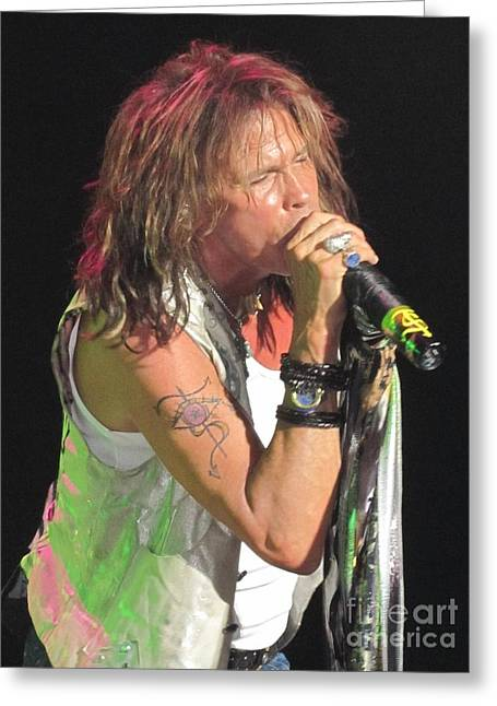 Steven Tyler Concert Picture Greeting Card