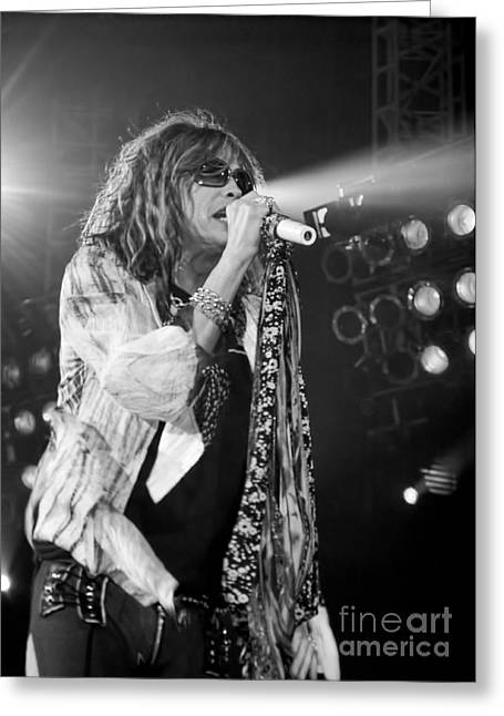 Steven Tyler In Concert Greeting Card by Traci Cottingham