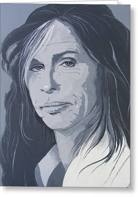 Steven Tyler Greeting Card by Ken Jolly