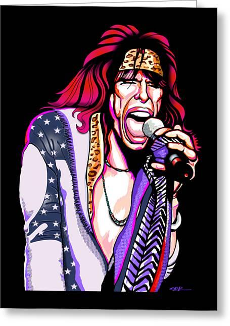 Steven Tyler Of Aerosmith Greeting Card