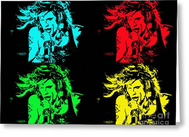 Steven Tyler Pop Art Greeting Card by Traci Cottingham