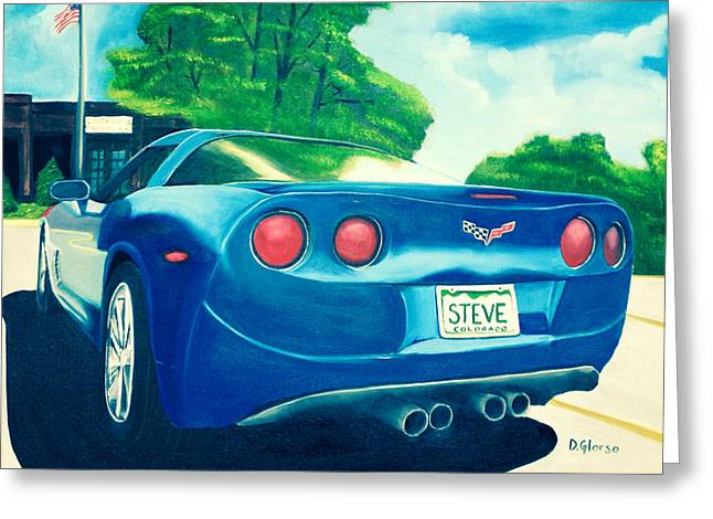 Steve's Corvette Greeting Card