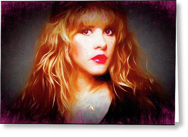 Stevie Nicks Drawing Greeting Card
