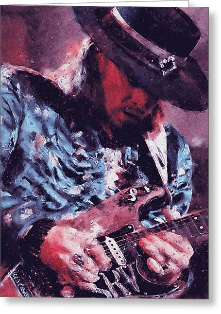 Stevie Ray Vaughan - 25 Greeting Card