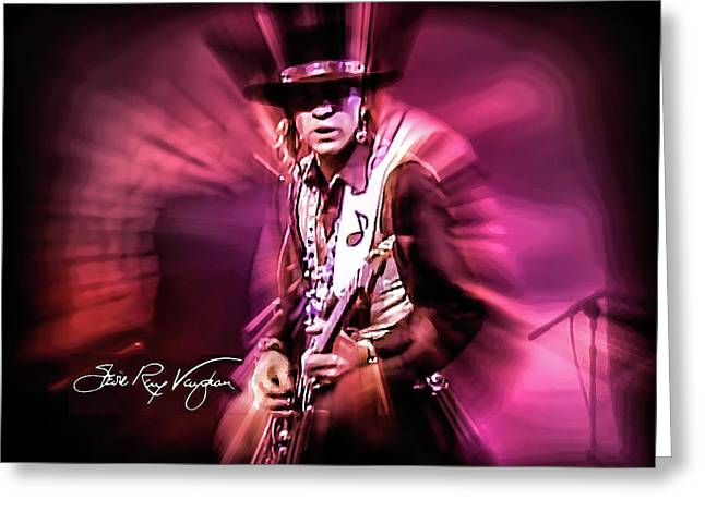 Stevie Ray Vaughan - Crossfire Greeting Card