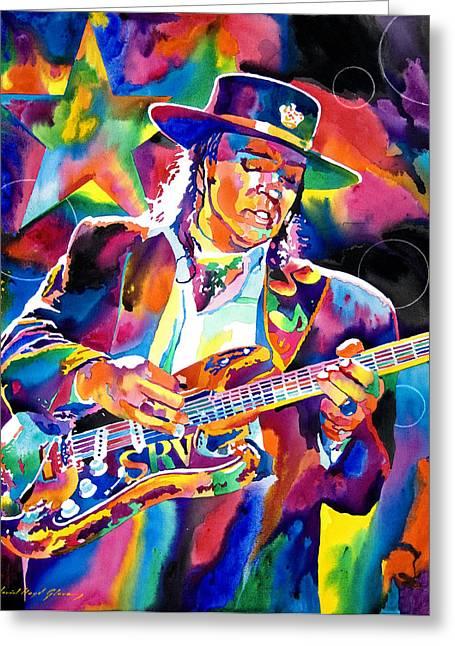 Stevie Ray Vaughan Greeting Card by David Lloyd Glover
