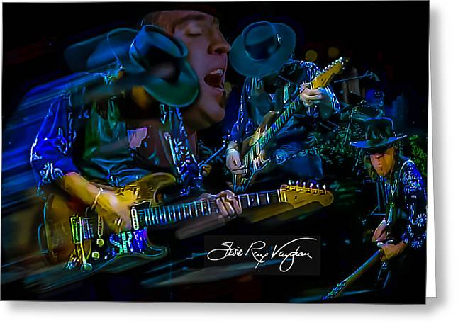 Stevie Ray Vaughan - Double Trouble Greeting Card