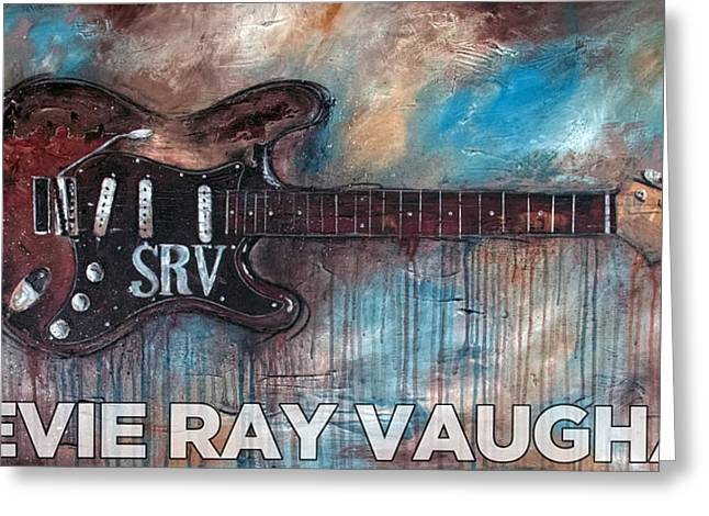Stevie Ray Vaughan Double Trouble Greeting Card