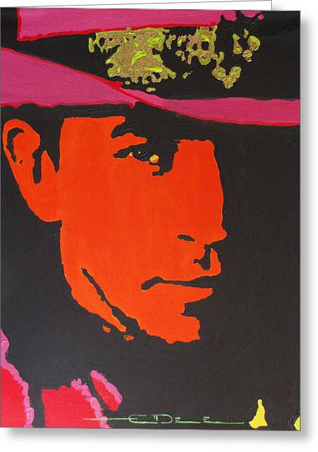 Greeting Card featuring the painting Stevie Ray Vaughan by Eric Dee