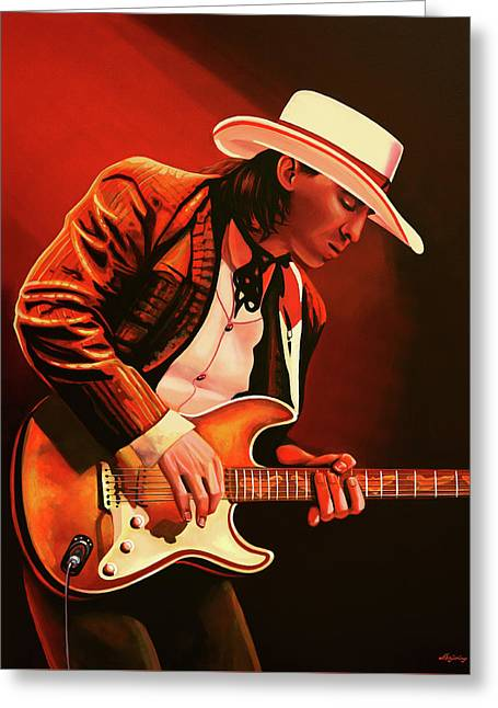 Stevie Ray Vaughan Painting Greeting Card