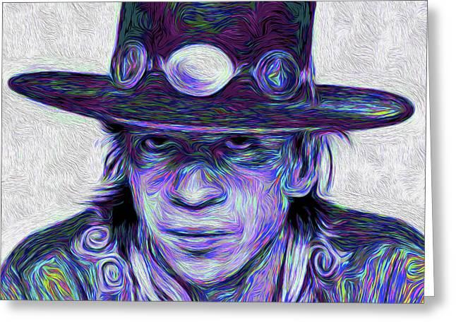 Stevie Ray Vaughan #002 Nixo Greeting Card