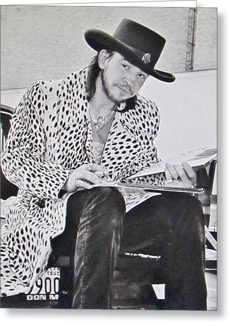 Stevie Ray Vaughan Photograph Greeting Card