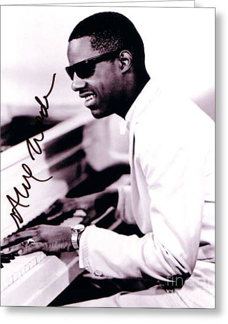 Stevie Wonder Autographed Greeting Card by Pd