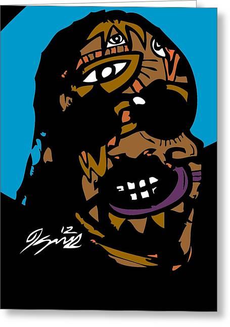 Stevie Wonder Full Color Greeting Card by Kamoni Khem