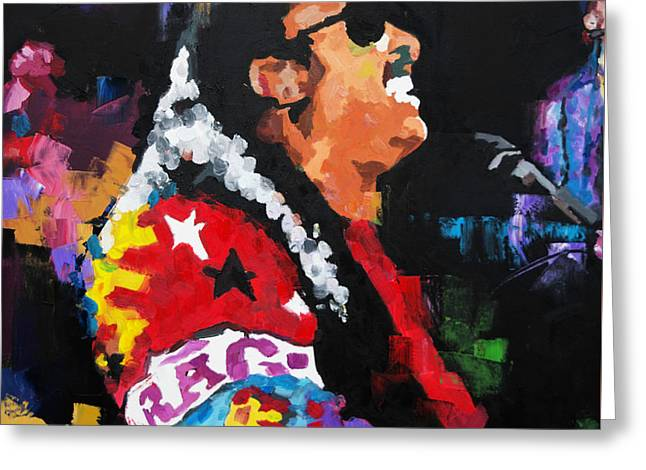 Stevie Wonder Live Greeting Card by Richard Day