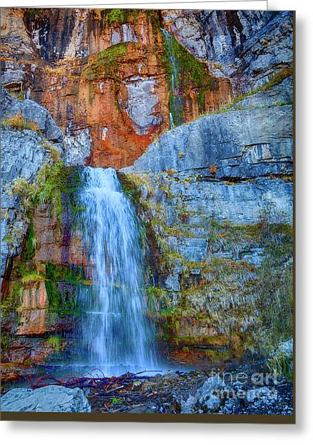 Greeting Card featuring the photograph Stewart Falls by David Millenheft