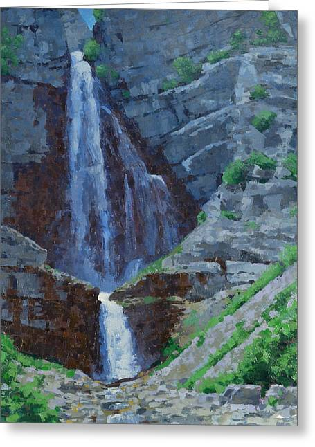 Stewart Falls Greeting Card