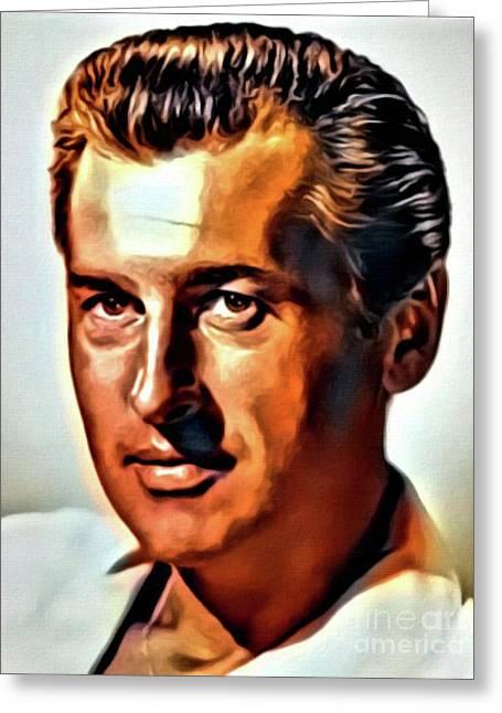 Stewart Granger, Vintage Actor. Digital Art By Mb Greeting Card
