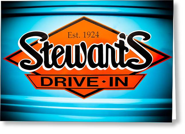 Stewart's Drive-in Sign  Greeting Card by Colleen Kammerer