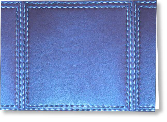Stiched Leather Look Blue Abstract Wall Decorations By Navinjoshi At Fineartamerica.com Download Jpg Greeting Card