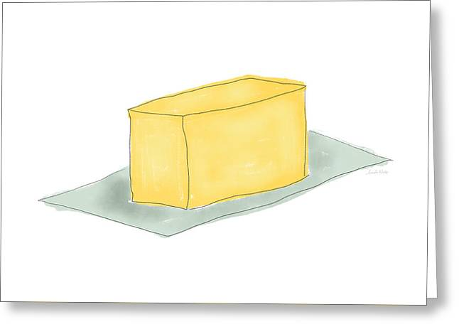 Stick Of Butter- Art By Linda Woods Greeting Card