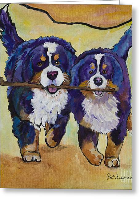 Stick Together Greeting Card