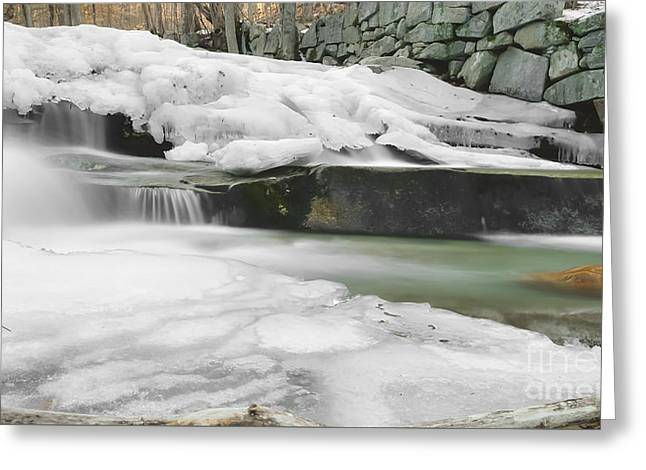 Stickney Brook Falls Greeting Card