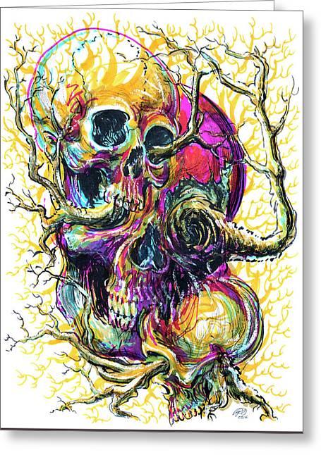 Sticks And Bones Greeting Card by Ryan Irish