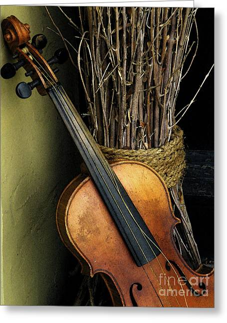 Sticks And Strings Greeting Card