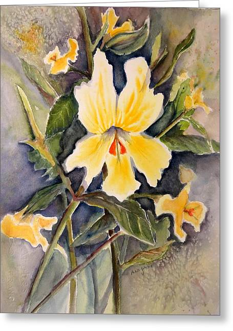 Sticky Monkey Flower Greeting Card