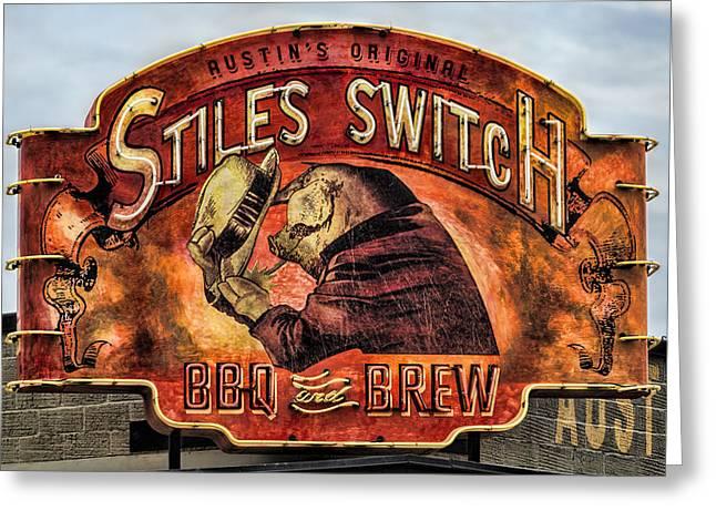 Stiles Switch Bbq Greeting Card by Stephen Stookey