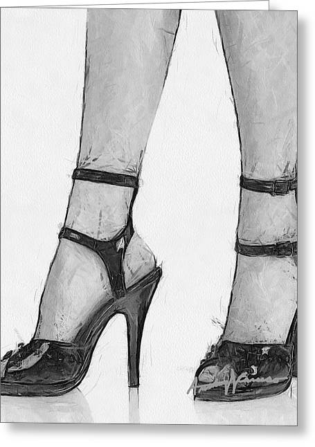 Stiletto Greeting Card by Anthony Caruso