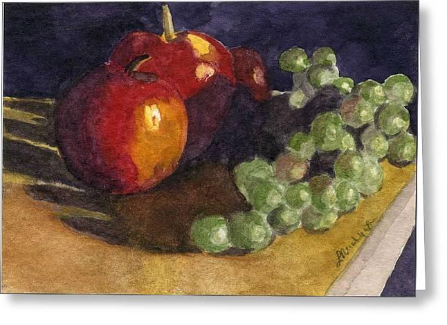 Still Apples Greeting Card by Lynne Reichhart