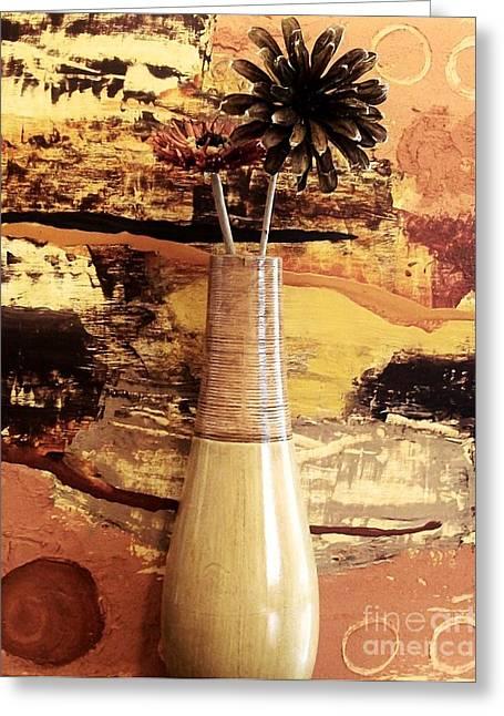 Still Life Abstract Greeting Card by Marsha Heiken