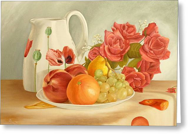 Still Life Greeting Card by Angeles M Pomata
