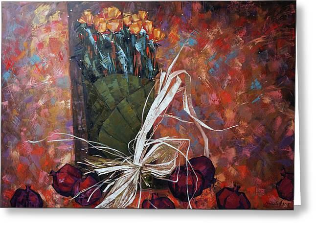 Still Life. Autumn Melody Greeting Card by Anastasija Kraineva