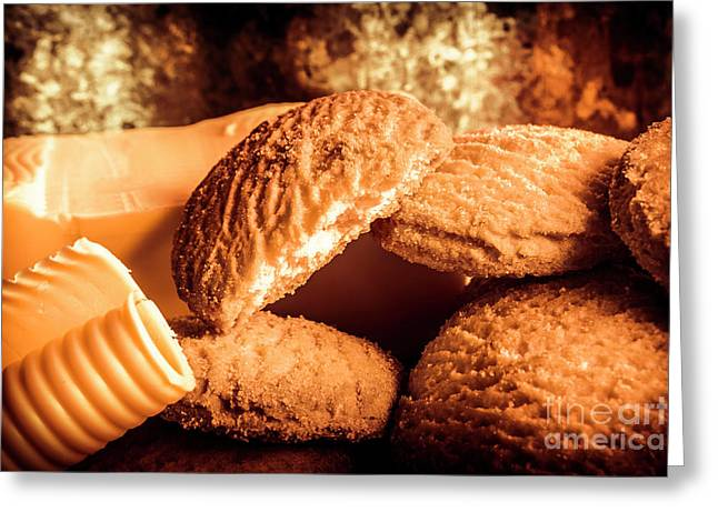 Still Life Bakery Art. Shortbread Cookies Greeting Card