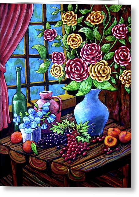 Still Life By The Window Greeting Card
