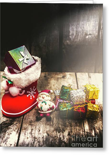 Still Life Christmas Scene Greeting Card by Jorgo Photography - Wall Art Gallery