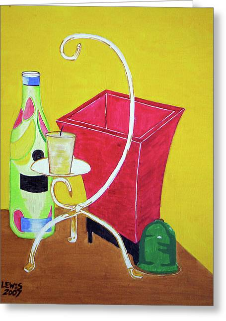 Still Life Greeting Card by Christopher Lewis