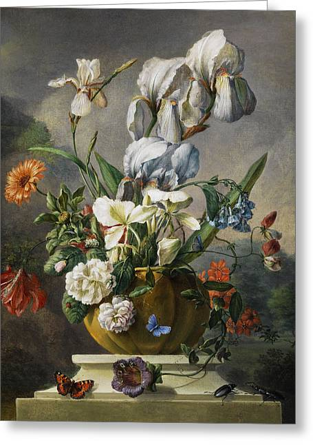 Still Life Greeting Card by Franz Xaver Gruber