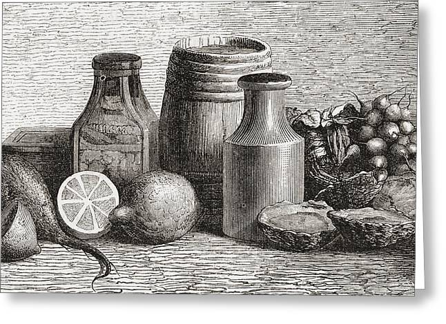 Still Life. From A 19th Century Print Greeting Card