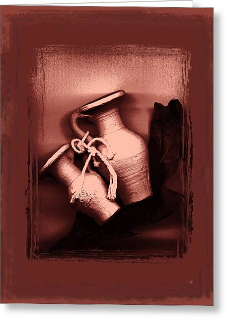 Color Stretching Greeting Cards - Still Life Greeting Card by Gerlinde Keating - Keating Associates Inc