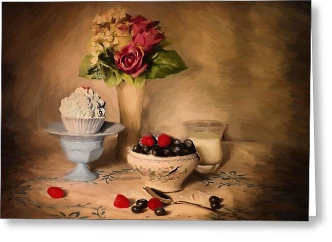Still Life - Id 16217-152043-2364 Greeting Card by S Lurk